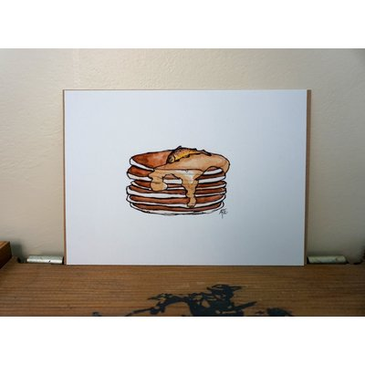 Buttery Pancakes | 5×7″ Alexis Hove Original Print