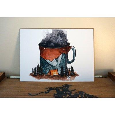 "Alexis Hove Camp Coffee Print | 5x7"" Alexis Hove Original Print"