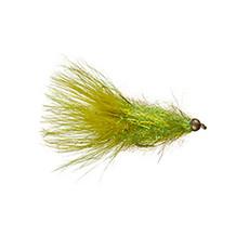 Coffey's Sparkle Minnow | Streamer | Light Olive | #6