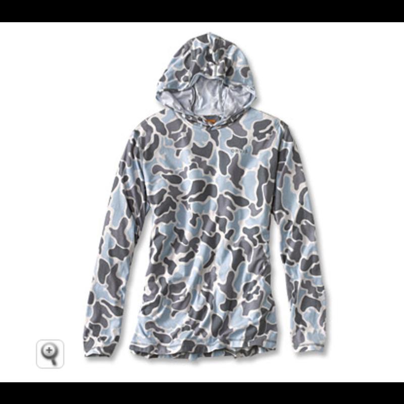 Orvis Drirelease Printed Hoody | Falls Blue Camo | Brown Camo