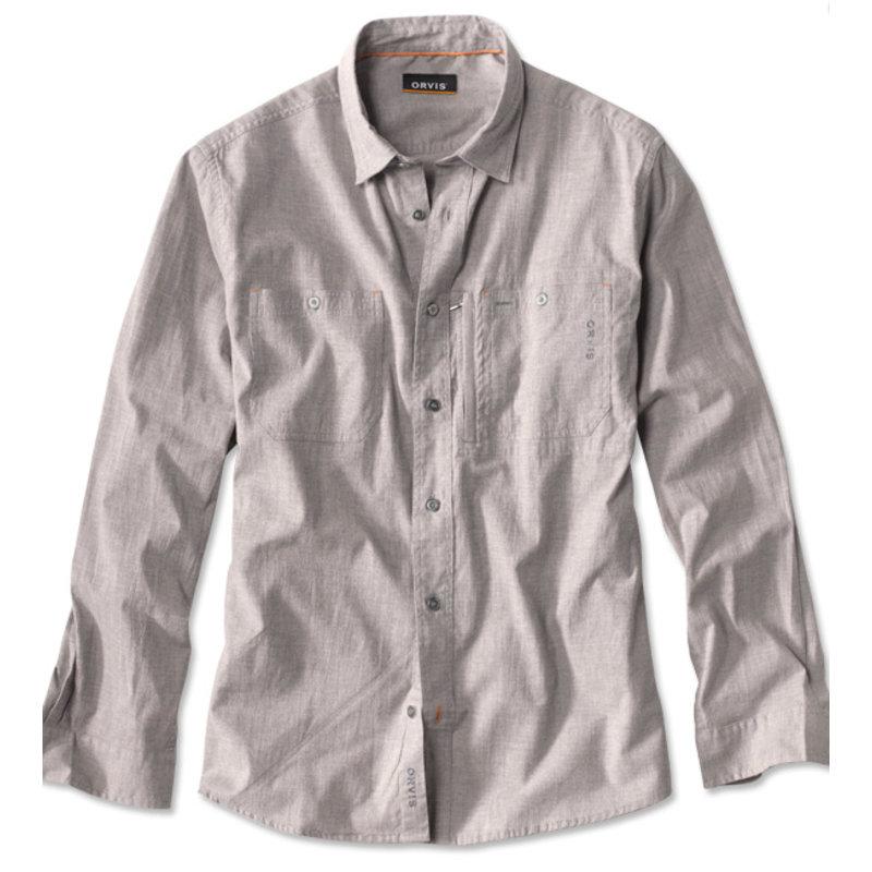 Orvis Flat Creek Linen Shirt | Dark Grey