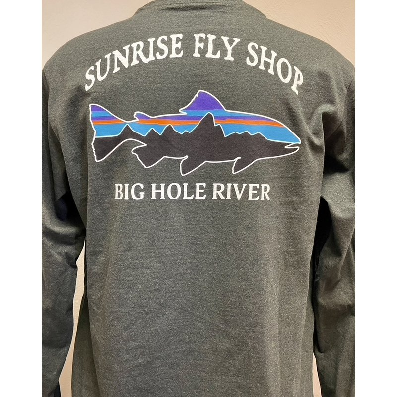 Patagonia Patagonia Long-Sleeved Fitz Roy Trout Responsibili-Tee | Kelp Forest | Owl Brown