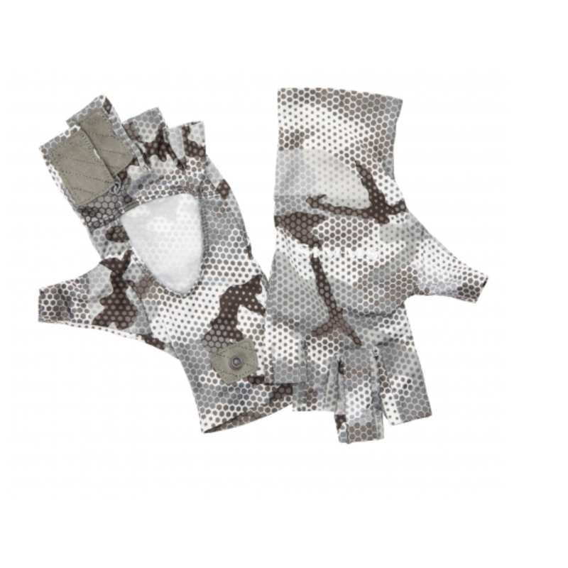 Simms Fishing Products Simms Solarflex Sunglove | Hex Flo Camo | Cloud Camo | Ash