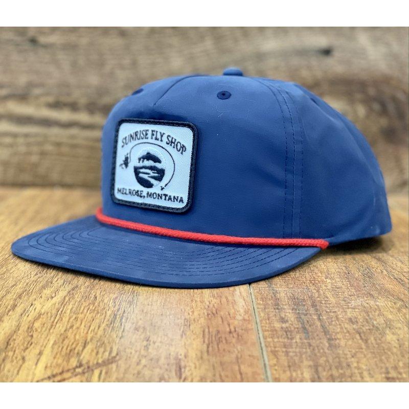Richardson Sunrise Logo Hat | Umpqua | Navy/Red | Biscuit | Loden