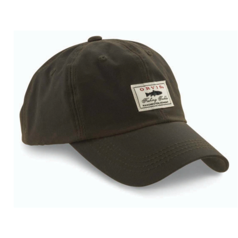 Orvis Vintaged Waxed-Cotton Ball Cap | Olive | Sandstonee