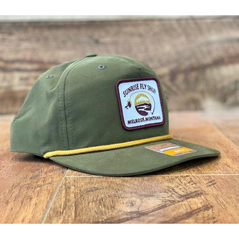 Richardson Sunrise Logo Hat   Umpqua   Navy/Red   Biscuit   Loden