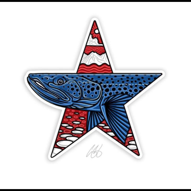 Underwood Star Brown Sticker