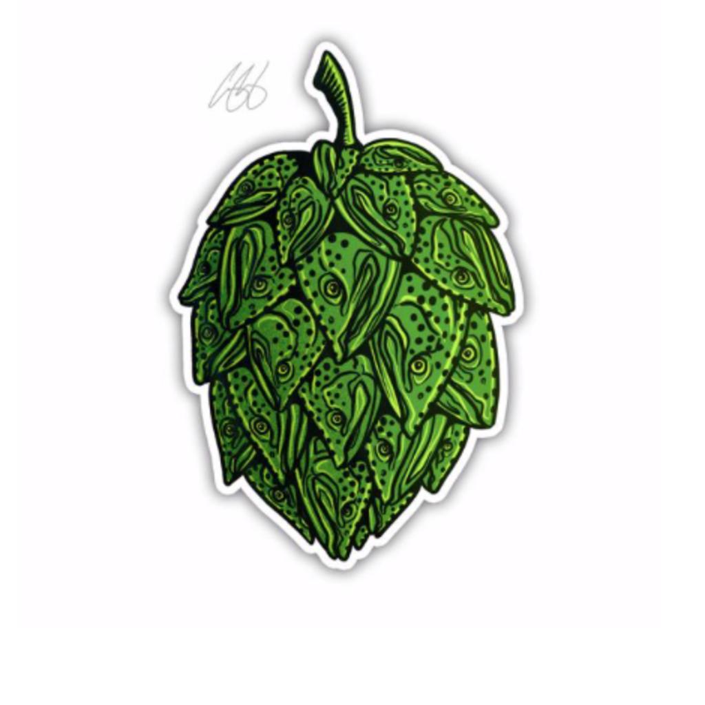 Underwood Trout Hop Sticker