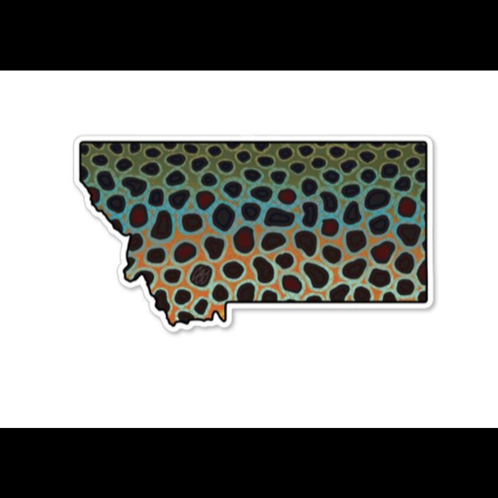 Underwood Montana Brown Sticker