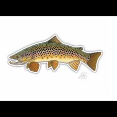 Underwood Brown Trout Sticker