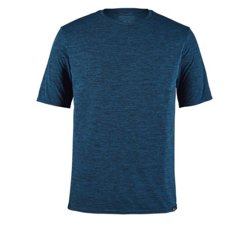 Patagonia Patagonia Cap Cool Daily Shirt | Sunrise Logo | Viking Blue, Light Beryl Green