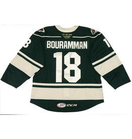 Bouramman #18 Green Signed Jersey