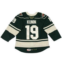 Kunin #19 Green Signed Jersey