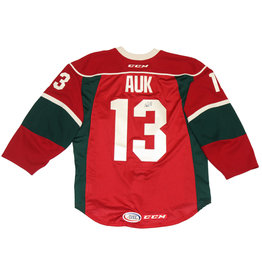 Auk #13 Red Signed Jersey