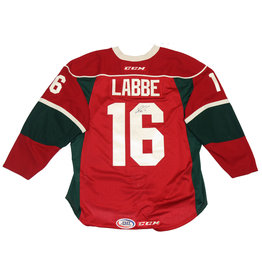 Labbe #16 Red Signed Jersey