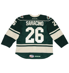 Saracino #26 Green Signed Jersey