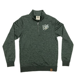 1/4 Zip Green Sweatshirt