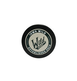 Wheat/Green Script Puck