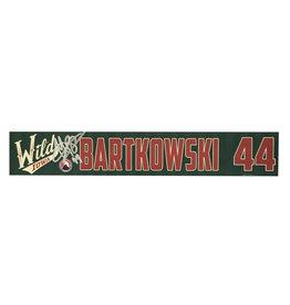 19-20 Bartkowski Signed Training Camp Nameplate