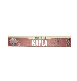 18-19 #3 Kapla Signed Playoff Nameplate