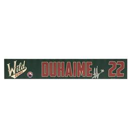 19-20 Duhaime Training Camp Nameplate