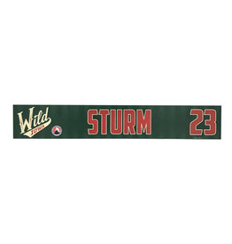 19-20 Sturm Training Camp Nameplate