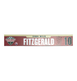 18-19 #10 Fitzgerald Signed Playoff Nameplate