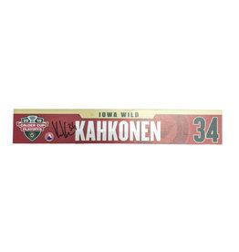 18-19 #34 Kahkonen Signed Playoff Nameplate