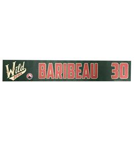 19-20 Baribeau Training Camp Nameplate