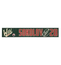19-20 Sokolov Signed Training Camp Nameplate