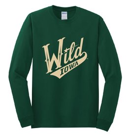 Green Long Sleeve Script Logo