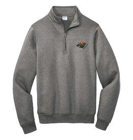 Gray Fleece 1/4 Zip