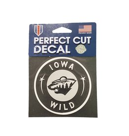 White cut out Decal