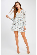 Gentle Fawn Gentle Fawn - LS Floral Fit & Flare Dress