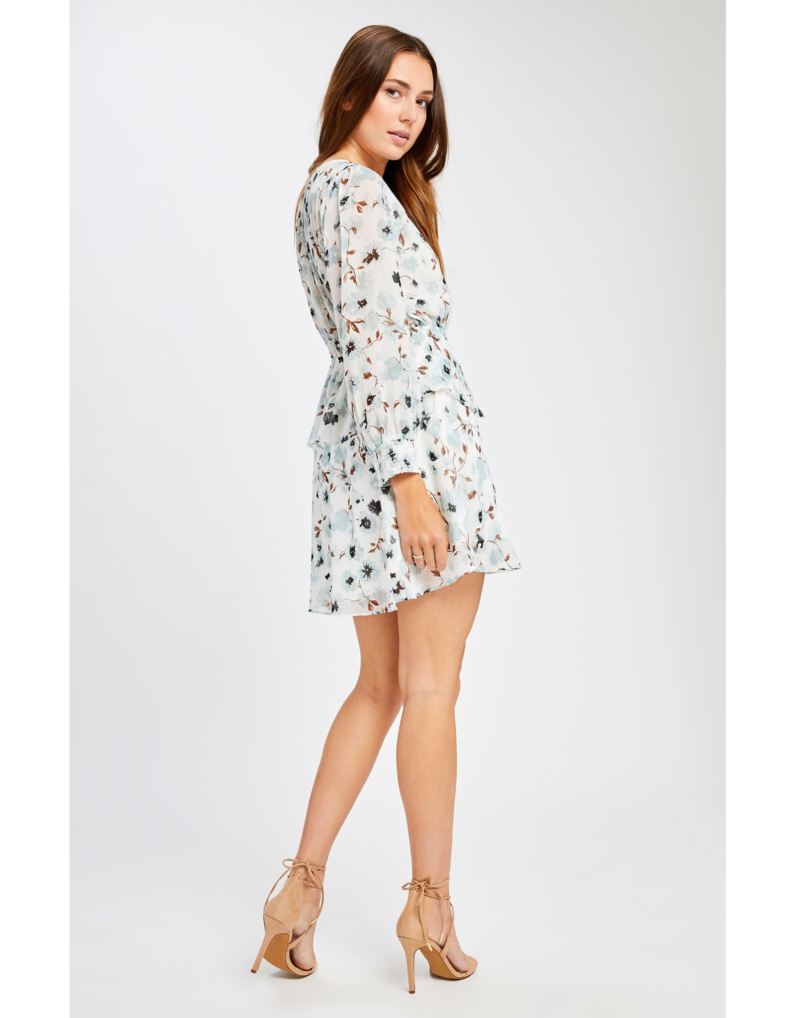 Gentle Fawn - LS Floral Fit & Flare Dress