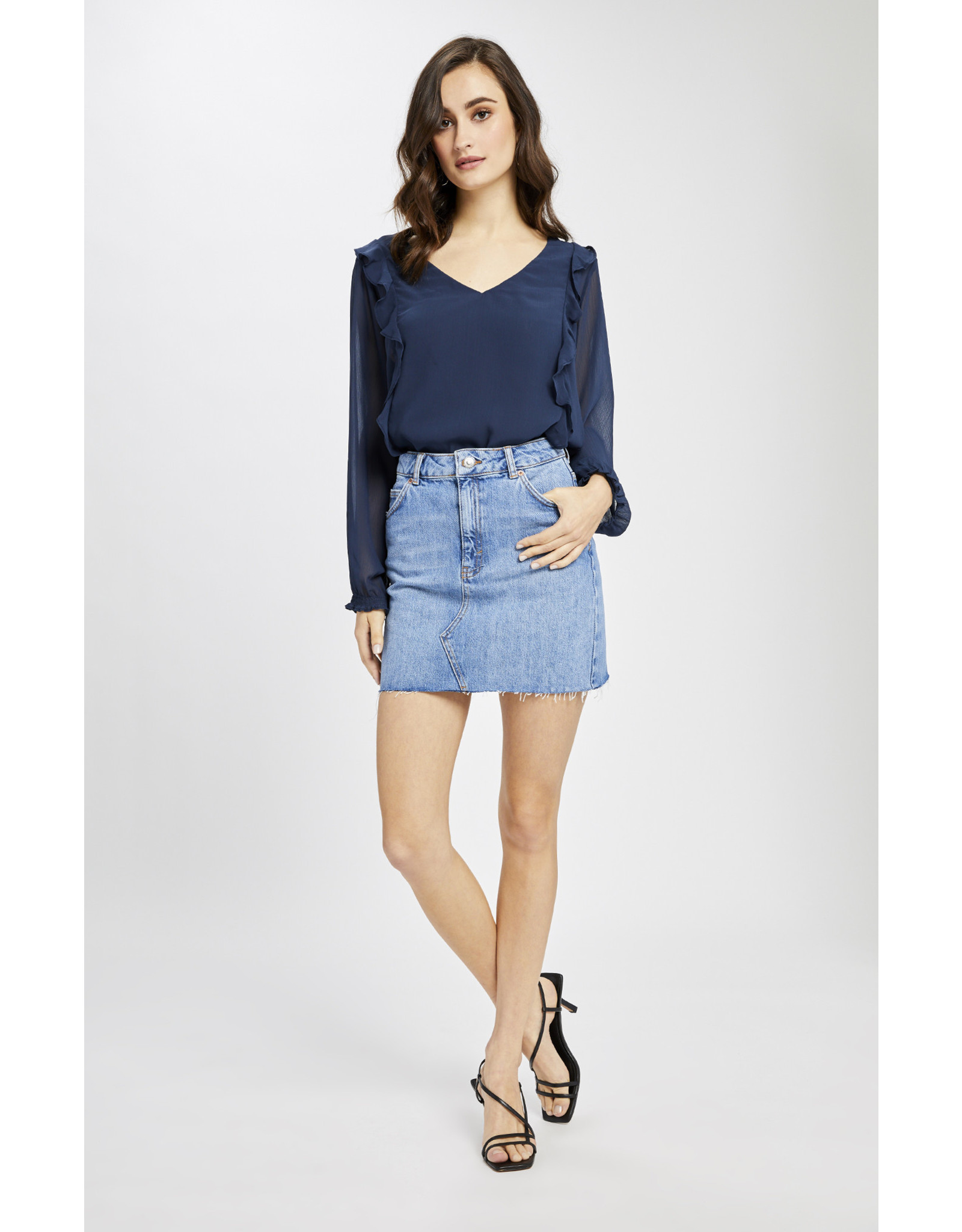 Gentle Fawn Gentle Fawn - LS V-Neck Blouse