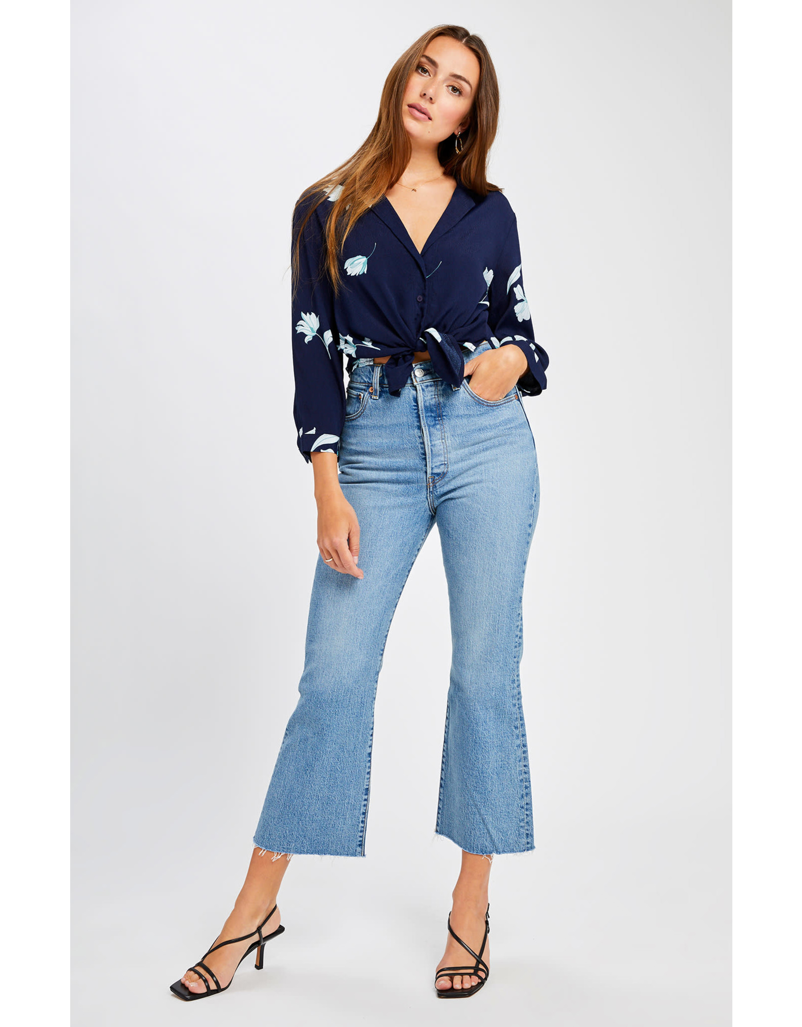 Gentle Fawn Gentle Fawn - LS Floral Tie Top