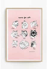 """Stay Home Club - Riso Print/Names for Cats 11"""" x 17"""""""