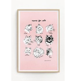 "Stay Home Club Stay Home Club - Riso Print/Names for Cats 11"" x 17"""