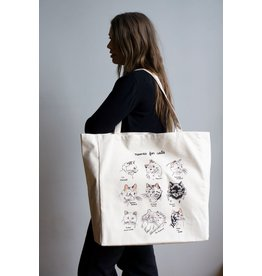 Stay Home Club - XL Tote Bag/Names For Cats