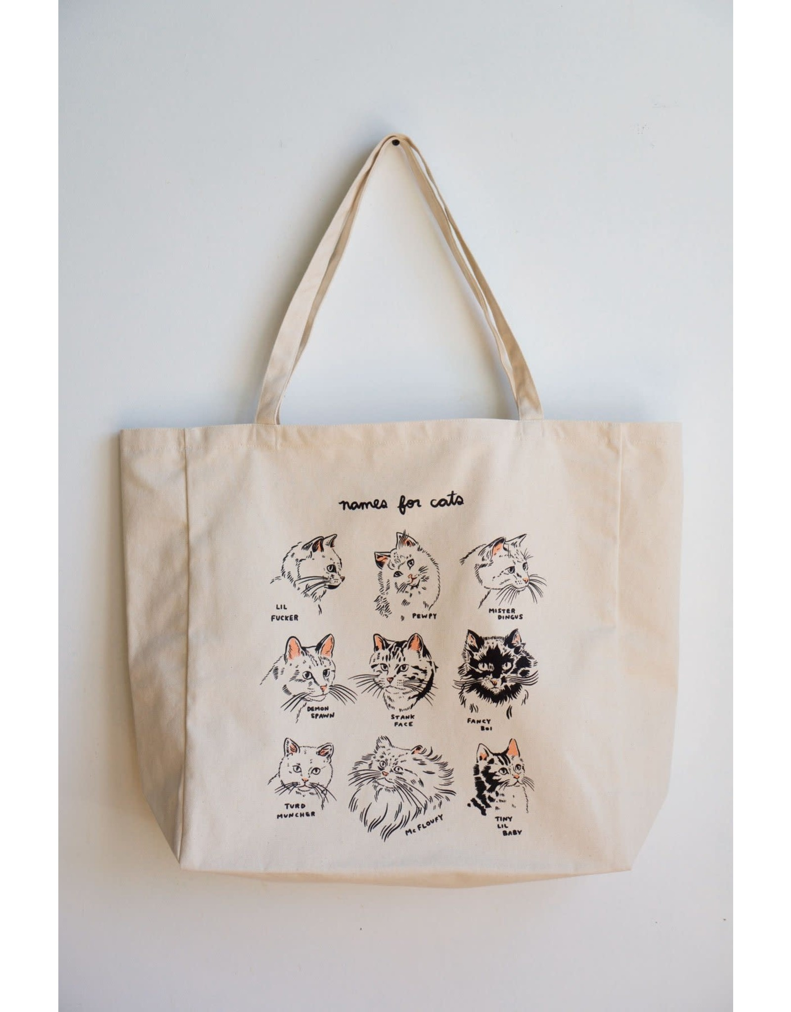 Stay Home Club Stay Home Club - XL Tote Bag/Names For Cats