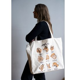 Stay Home Club - XL Tote Bag/Dogs Feeling Things