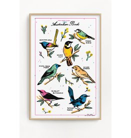 "Stay Home Club Stay Home Club - Print/Australian Birds 12"" x 18"""