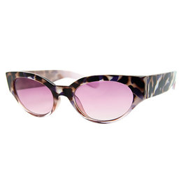 AJM - Skinny Oval Frame Sunglasses