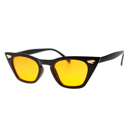 AJM - Skinny Cat-eye Frame Sunglasses Black