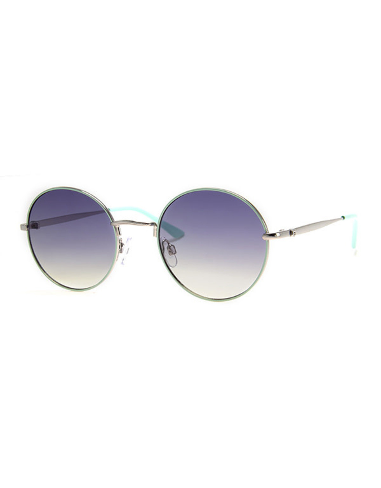 AJM - Round Colored Wire Frame Sunglasses
