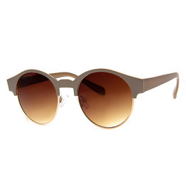 AJM - Round Half-Colored Frame Sunglasses