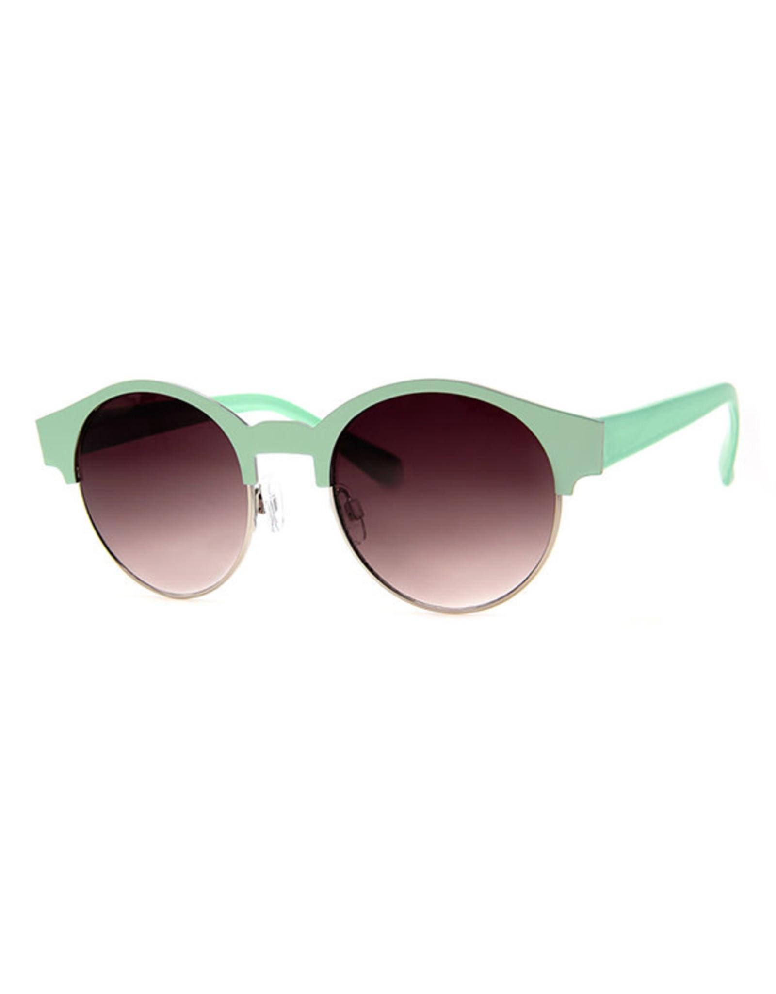 AJM - Round Half-Colored Frame Sunglasses