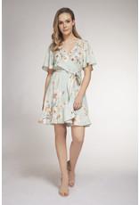 Dex - Short Sleeve Mint Floral Dress