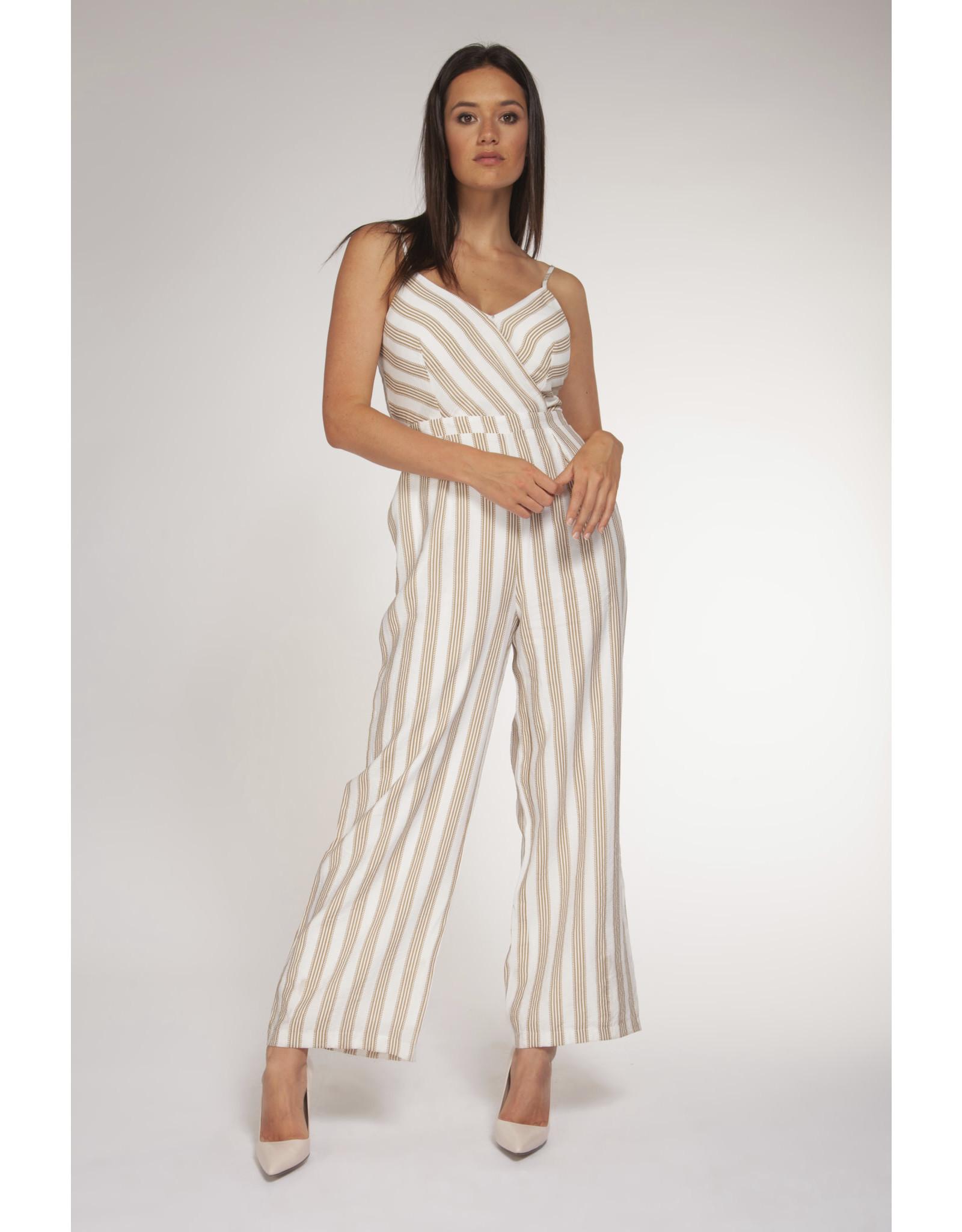 BPE - Ecru Wide Stripe Jumpsuit
